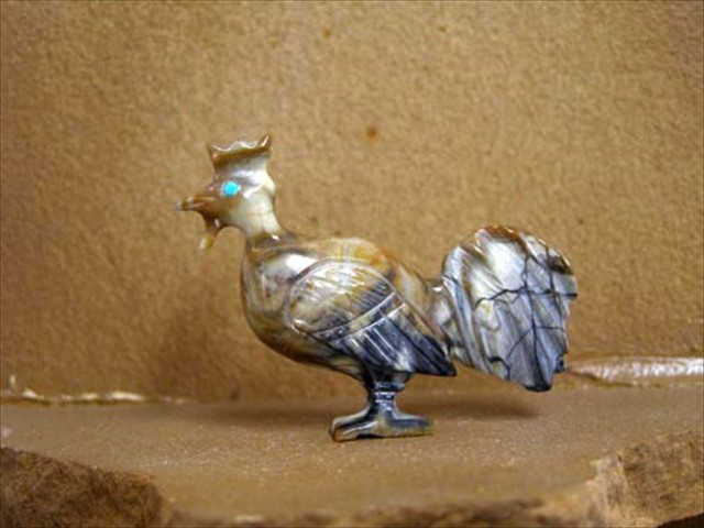 Rooster: Picasso Marble