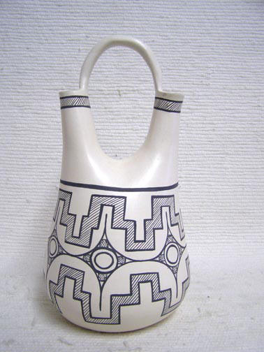 Native American Zuni Handbuilt and Handpainted Wedding Vases by T. Lorenzo