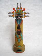 Native American Hopi Carved Butterfly Maiden Dancer Sculpture by Lauren Honyouti
